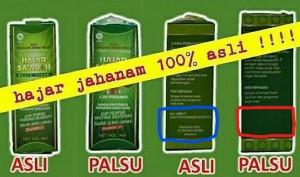 Hajar Jahanam Original vs Palsu / KW