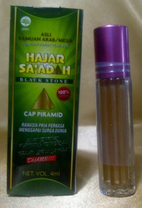 HAJAR JAHANAM CAIR CAP PIRAMIDA BOTOL ROLL ON